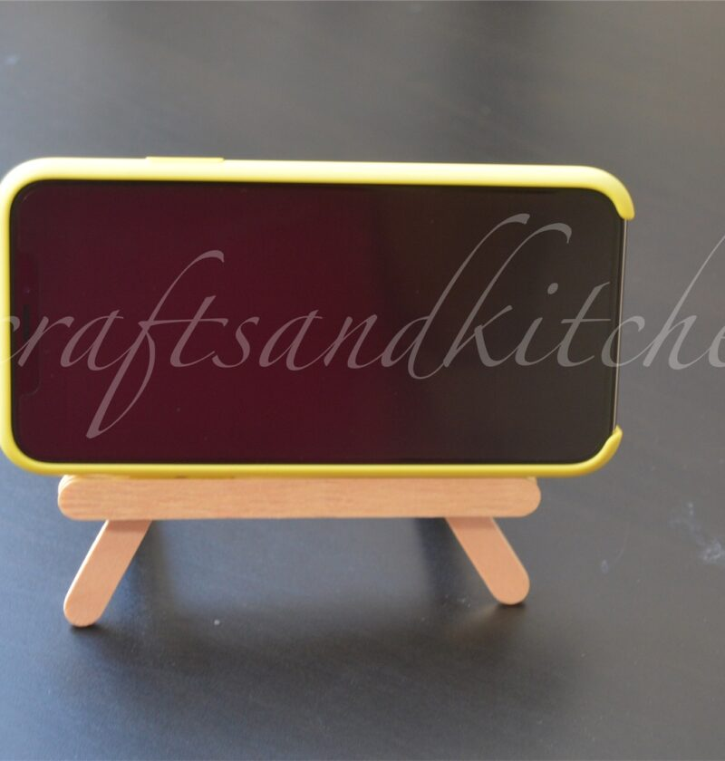 Popsicle stick mobile holder